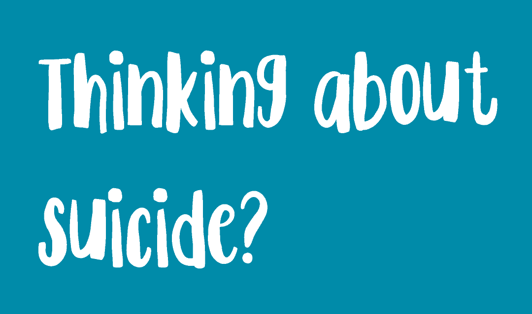 Thinking about suicide? Button