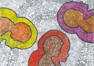 Artwork Depicting Colours of Healing