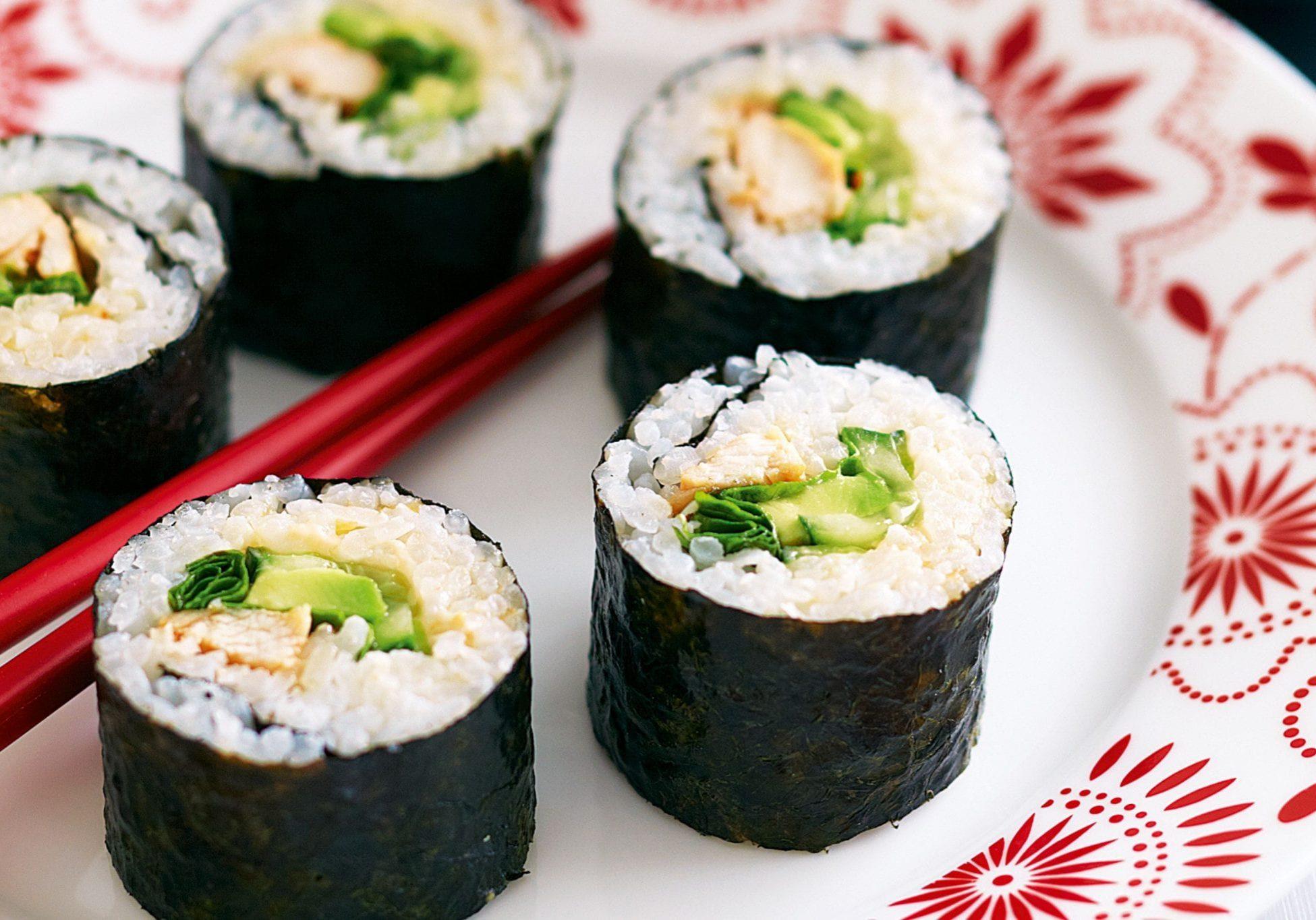 Making sushi together